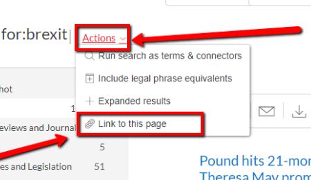 Search permalink location