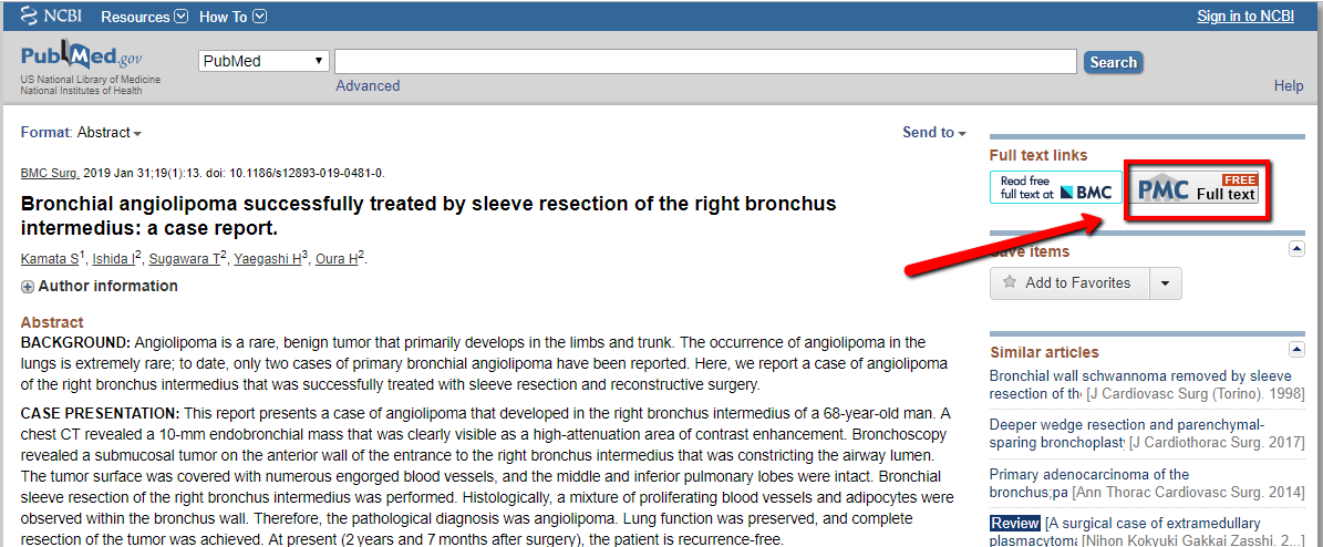 Screenshot PubMed article number two
